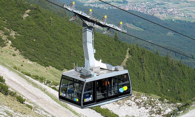 Канатная дорога в Инсбруке