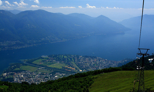 Обзор с горы Cimetta