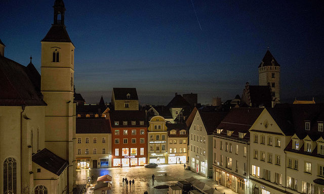 Ночной Регенсбург