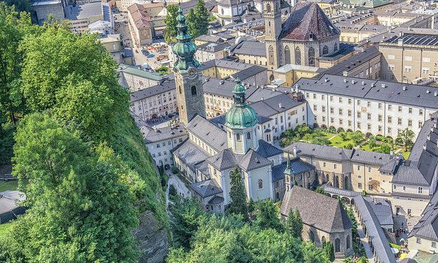 Вид на Зальцбург с замка