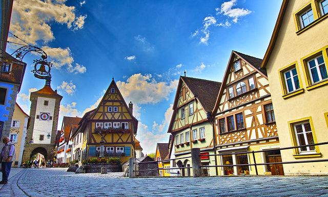 Красочные домики Ротенбурга
