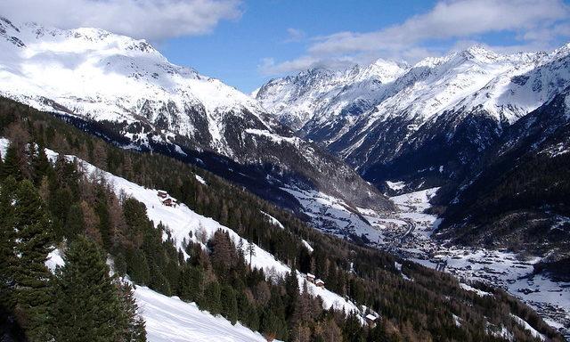 Зельден в начале зимы