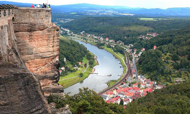Вид с крепости Кенигштайн