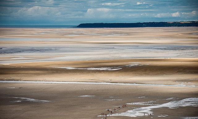 Прибрежная зона Мон-Сен-Мишеля