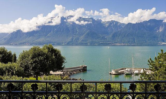 Виды из отеля Grand Hotel du Lac
