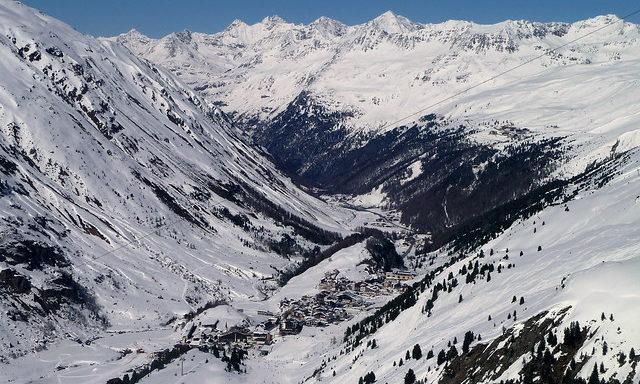 Зимний пейзаж Обергургля