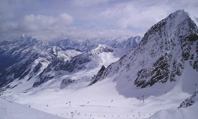 Вид на ледник Штубай