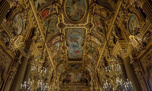 Внутреннее убранство оперы Гарнье