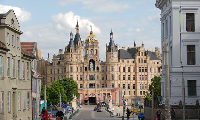 Панорама Шверинского замка